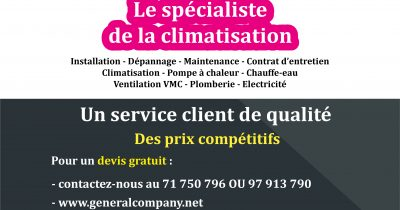 GENERAL COMPANY : Climatisation