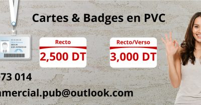 Badges et cartes en PVC
