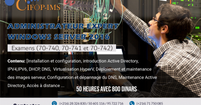 Formation en Windows Server 2016 MCSA